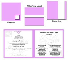 Sweet 15 / Quinceanera Program and Invitation with Booklet Fold Format - so many ways to dress up invitations