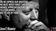 John F Kennedy, Team Player, Jfk, Gratitude, Appreciation, Words, Ticks, Fictional Characters, Live