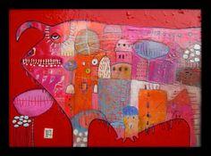 Nr5 acrylic on woodpanel 30x40cm Elke Trittel