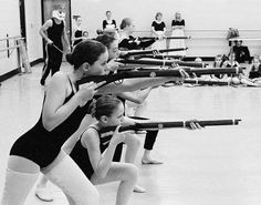 ballerinas practicing for The Nutcracker My daughter was one of these soldiers with Ballet West :)