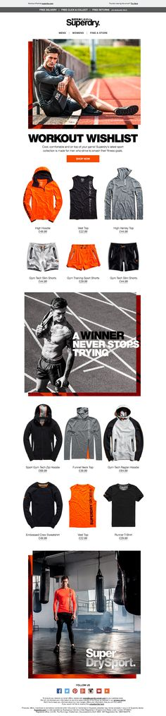 Superdry Mens Sport Email / Newsletter Design