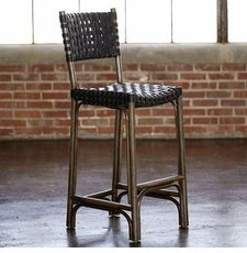Grammercy Barstool or Counterstool With Back in Tobacco
