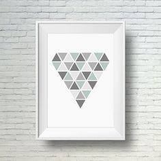 Home wall art, modern geometric art print, printable home decor art  #homedecor