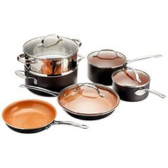 Gotham Steel 10-Piece Kitchen Nonstick Titanium With a Ceramic Coating Frying Pan and Cookware Set * Want additional info? Click on the image.
