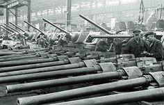 Russian T-34 tank production in Chelyabinsk