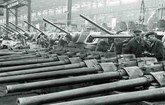 Russian T-34 tank production in Chelyabinsk