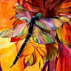Dragonfly Painting Canvas Prints - Vineyard Fantasy Canvas Print by Karen Dukes Patchwork Quilting, Quilts, Art Quilting, Dragonfly Art, Dragonfly Painting, Dragonfly Jewelry, Dragonfly Tattoo, Fantasy Paintings, Fantasy Art