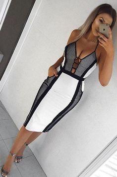 $59.99 Sexy V-neck Halter Sleeveless Dress