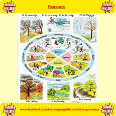 learning the vocabulary for the months and seasons in English - learning basic English