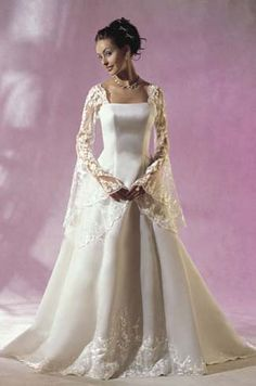 Plus Size Wedding Dress With Bell Sleeves 45