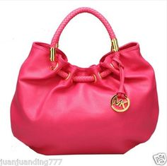 New Michael Kors Hamilton Leather Satchel Handbag Red