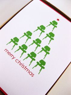 My friends in California are SO in love with mid-century design that these seem like the perfect xmas card. $15