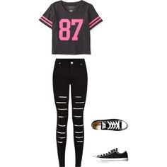 A fashion look from June 2015 featuring striped tees, distressed skinny jeans and grip trainer. Browse and shop related looks. Polyvore Fashion, Black Jeans, Converse, Shoe Bag, Stuff To Buy, Pants, Shopping, Collection, Tops