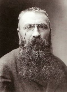 Auguste Rodin photographed by Felix Nadar, 1891.