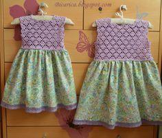 Conjunto de vestidos artesanales en morado y estampado de cachemira