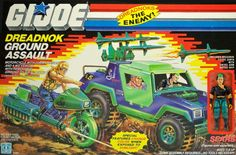 The Dreadnok Ground Assault set of repainted vehicles, with a special Zanya figure, a Sears exclusive for the G.Joe toy line in 1987 1980s Toys, Retro Toys, Vintage Toys, Gi Joe Vehicles, Cobra Commander, Storm Shadow, Live Action Movie, Saturday Morning Cartoons, 90s Cartoons