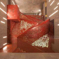Studio Mishin et Arup : Escalier de Cuivre