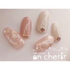 ネイル ネイル in 2020 So Nails, Pink Nails, Cute Nails, Hair And Nails, Gel Nail Designs, Cute Nail Designs, Japan Nail Art, Office Nails, Korean Nail Art