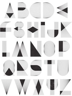 Alphabet shapes made by Patrick Seymour Graphisches Design, Typo Design, Word Design, Lettering Design, Hand Lettering, Line Design, Alphabet A, Alphabet Design, Typography Served
