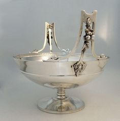 Gorham sterling silver centerpiece bowl with applied fruit motif - Providence, c1869