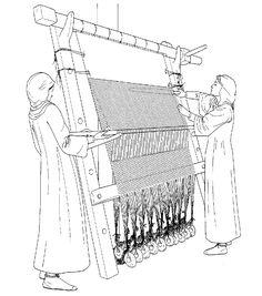 Viking Warp-weighted loom