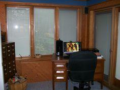 """Len's desk in"""" The Man Cave"""" / April 2012"""