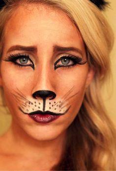 halloween makeup for kids cat