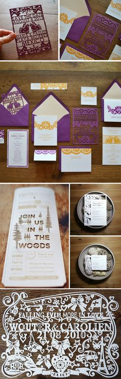 Intricately beautiful die-cut invitations. #wedding #invitations #pahaly