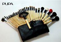 32pcs precio al por mayor como un sistema portable de la caja de juego pincel serie sistema de cepillo del maquillaje cosmético para uso profesional