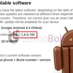 Xperia T2 Ultra Android 4.4.4 19.1.1.A.0.165 firmware update rolling or is it android 4.4.3 ?