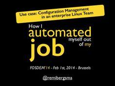 Configuration Management in an Enterprise Linux Team