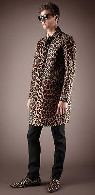 Mens leopard coat