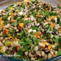 Φασόλια πιάζ   TrikalaView Veggie Soup, Salad Bar, Savoury Dishes, Vegan Vegetarian, Salads, Brunch, Food And Drink, Appetizers, Rice
