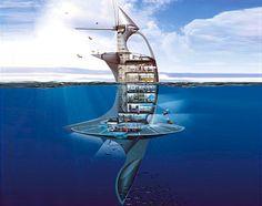 SeaOrbiter. Investigação oceânica.