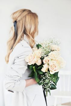 Beautiful bouquet of fresh roses.