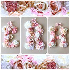 Flower letters 18  Floral letter Nursery flower decor