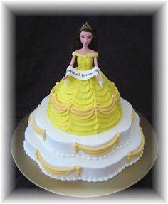 Belle Barbie Doll by Cake Diane Custom Cake Studio (eyedewcakes), via Flickr