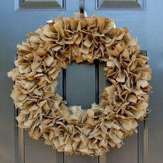 Burlap Wreath by Lisa Serrano