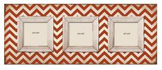 Shabby Chic Red Chevron 3 Slot Wood Picture Frames | M Home Decor