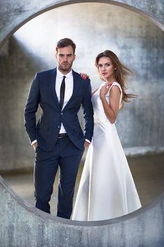 Fashion style wedding photoshoot
