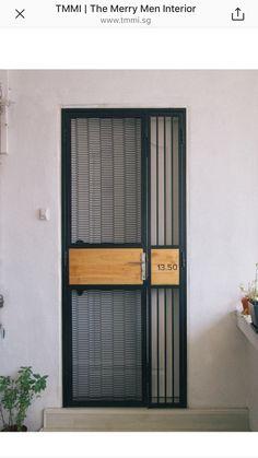 Ideas for metal door design gates Door Gate Design, Front Door Design, Grill Gate, Window Grill Design, House Doors, Iron Doors, Steel Doors, Home Interior Design, Exterior Design