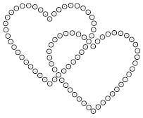Linking Hearts Rhinestone Template 2.5 x 2.5   Heart Templates
