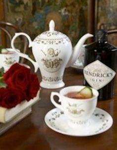 Hendricks cup and tea pot