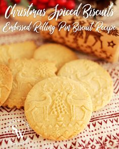The delicious iconic festive flavours are in my Christmas Spiced Biscuits. The best Embossed Rolling Pin Biscuit Recipe to keep the pattern when cooking. Christmas Food Treats, Christmas Baking, Christmas Recipes, Christmas 2019, Christmas Cookies, Cookie Recipe For Embossed Rolling Pin, Orange Recipes, Sweet Recipes, Mince Pie Filling