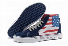 http://www.jordannew.com/vans-sk8hi-american-flag-blue-white-mens-shoes-free-shipping.html VANS SK8-HI AMERICAN FLAG BLUE WHITE MENS SHOES FREE SHIPPING Only $74.27 , Free Shipping!