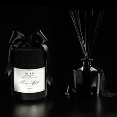 D.L. & Co Thorn Apple Diffuser  - Packaged in D.L & Co's signature black silk hat box with satin ribbon.