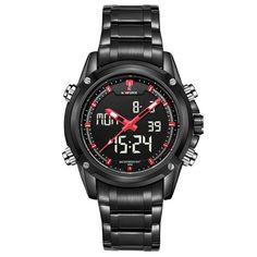 Watches men NAVIFORCE brand Sport Full Steel Digital LED watch reloj hombre Army Military wristwatch
