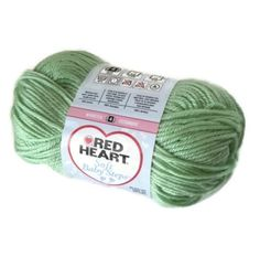Red Heart Yarn Soft Baby Steps Baby Green E746 Acrylic Destash Supplies NEW