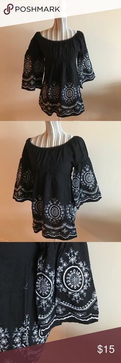 Chenault Top Size small, never worn,  shows the shoulders, comes with original tag. The sleeves are wide chenault Tops Tunics