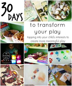 How to create Reggio Emilia inspired play and environments at home - Take the 30 Days to Transform Your Play challenge from An Everyday Story